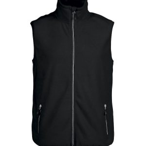 Bodywarmer polaire Printer Red Flag Sideflip Noir