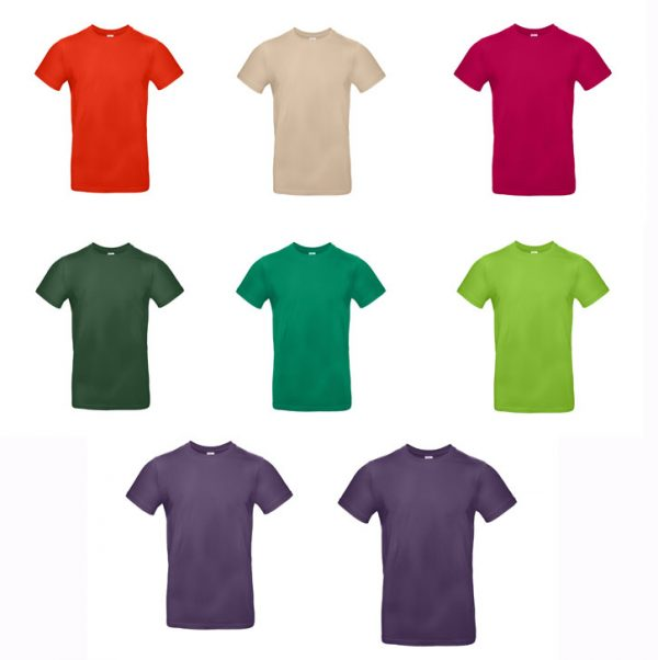 T-shirt B&C #E190 Coloris