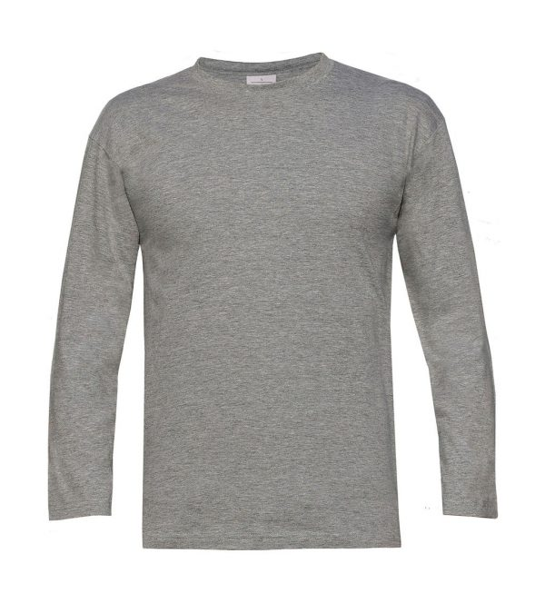 T-shirt homme B&C Exact 190 Manches Longues