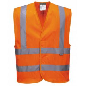 """Gilet en maille Portwest """"C370""""haute visibilité Orange"""