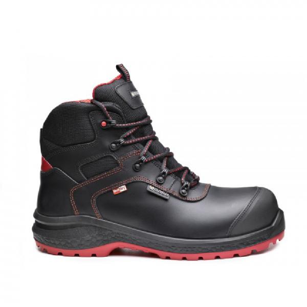 Chaussure de sécurité Base Be-Dry Mid S3 (Waterproof) Noir-rouge