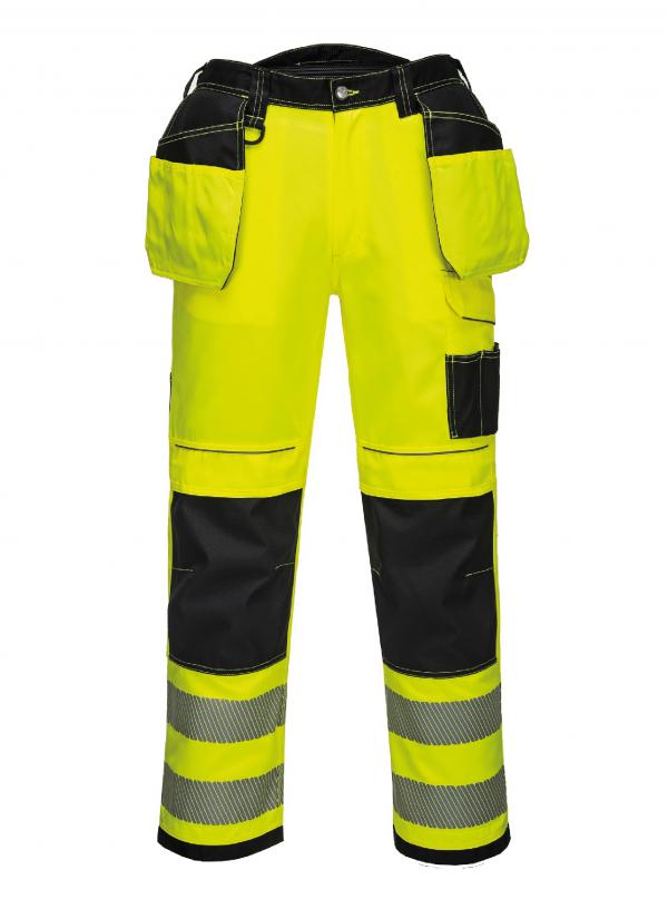 Pantalon poches flottantes Portwest PW3 HV Jaune