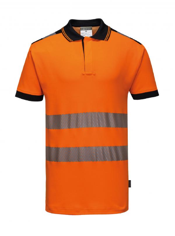 Polo Portwest PW3 haute visibilité Orange