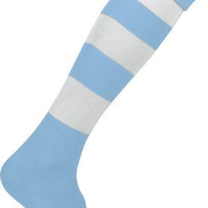 Chaussettes de sport cerclées Proact BLeu-ciel-blanc