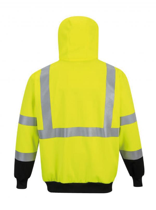 """Sweatshirt zippé à capuche Portwest """"B315"""" HV"""
