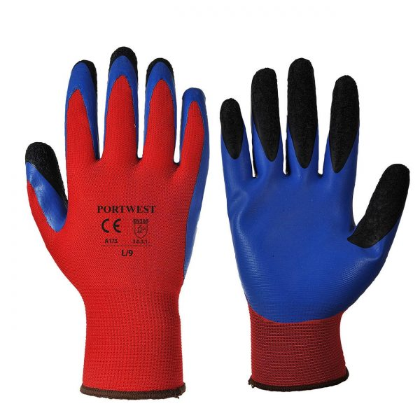 Gants latex Portwest Duo-Flex Rouge-bleu