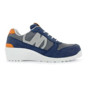 Basket de sécurité femme Nordways Laurie S1P Bleu marine - Orange