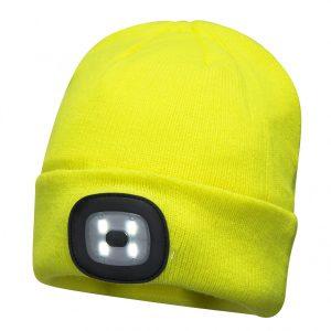 Bonnet double LED Portwest B029 Jaune