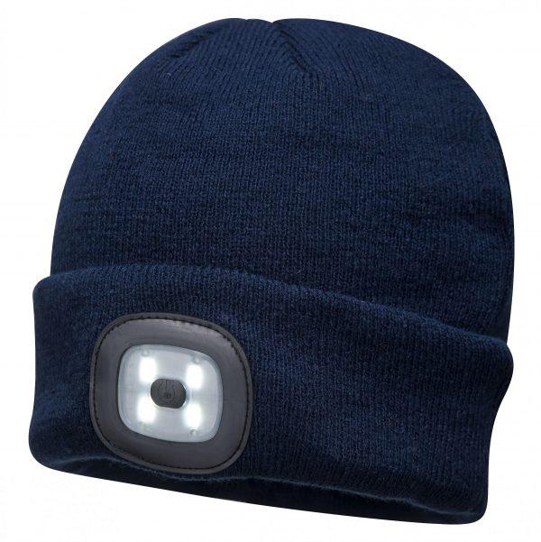Bonnet double LED Portwest B029 Bleu-marine