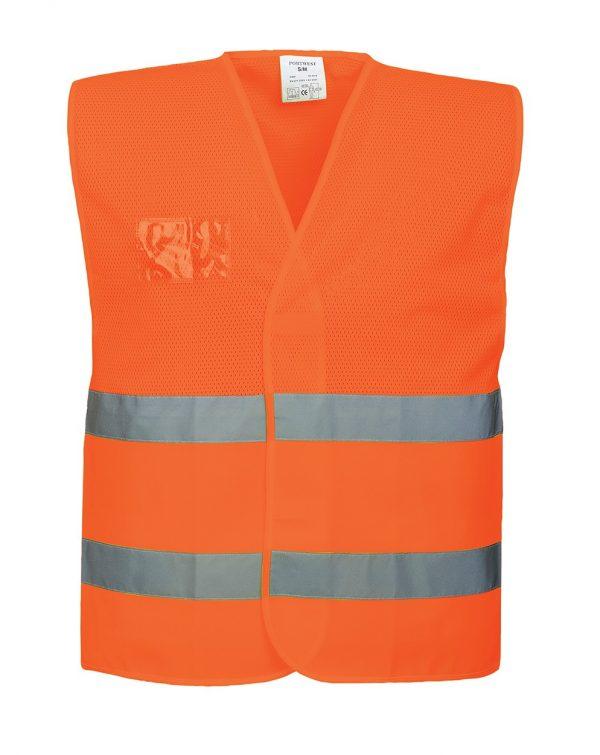 """Gilet semi-maille Portwest """"C494"""" haute visibilité Orange"""