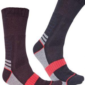 Chaussettes techniques été Singer Cagnes Noir-gris-rouge