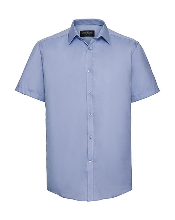 Chemise homme Russell Herringbone à mch. courtes