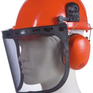 "Casque avec kit forestier Singer ""HGCF01"" Orange"