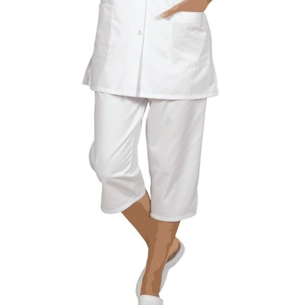 Pantacourt femme SNV blanc