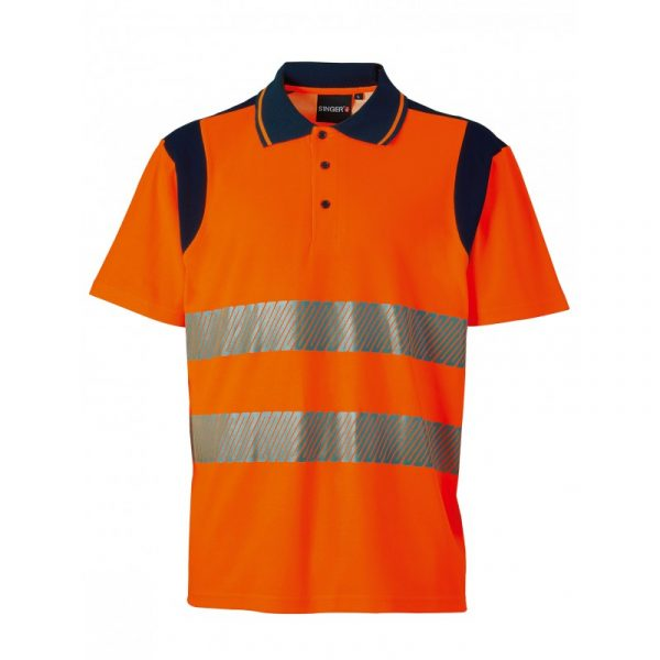 Polo haute visibilité Singer Polma/Polmo Orange