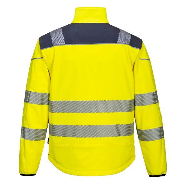 Softshell Portwest haute visibilité PW3 jaune gris