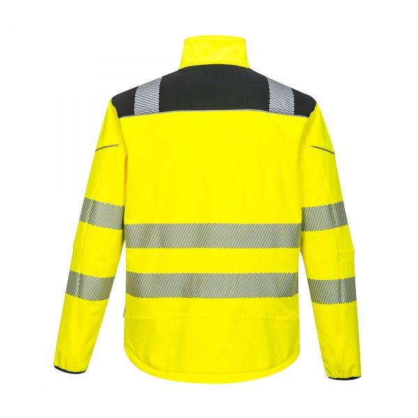 Softshell Portwest haute visibilité PW3 jaune noir