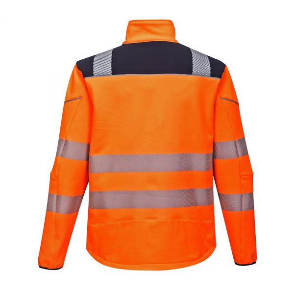 Softshell Portwest haute visibilité PW3 orange bleu marine