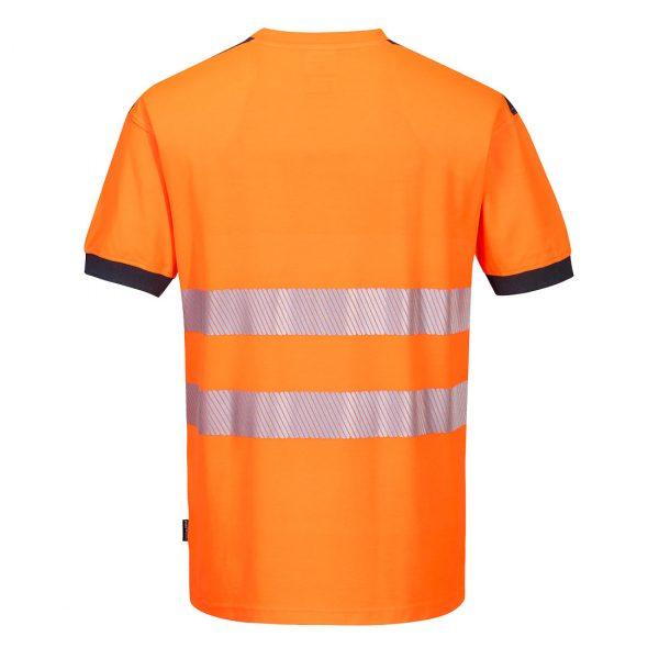 T-shirt manches courtes haute visibilité Portwest orange gris