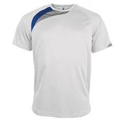 t-shirt proact Blanc-bleu-roi-gris