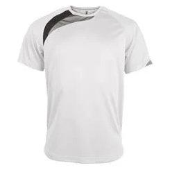 t-shirt proact Blanc-noir-gris