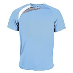 t-shirt proact Bleu-ciel-blanc-gris