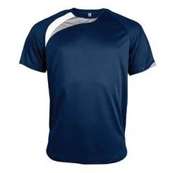 t-shirt proact Bleu-marine-blanc-gris