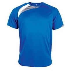 t-shirt proact Bleu-roi-blanc-gris