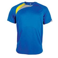 t-shirt proact Bleu-roi-jaune-gris
