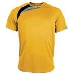 t-shirt proact Jaune-noir-gris