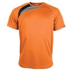t-shirt proact Orange-noir-gris