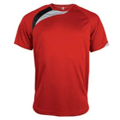 t-shirt proact Rouge-noir-gris