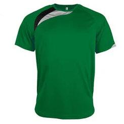 t-shirt proact Vert-noir-gris
