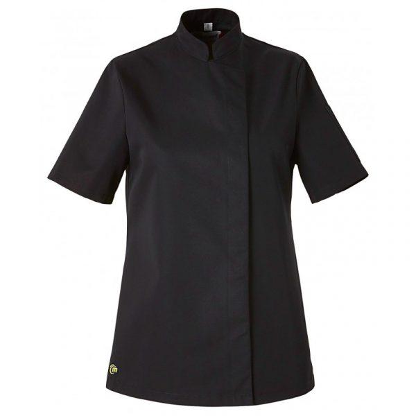 Veste de cuisine femme Molinel Bama manches courtes Noir