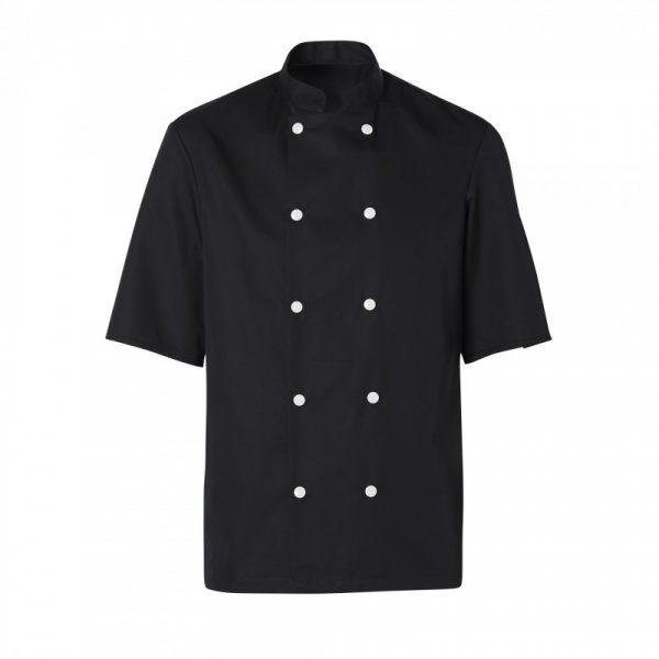 Veste de cuisinier Molinel Blake noir manches courtes