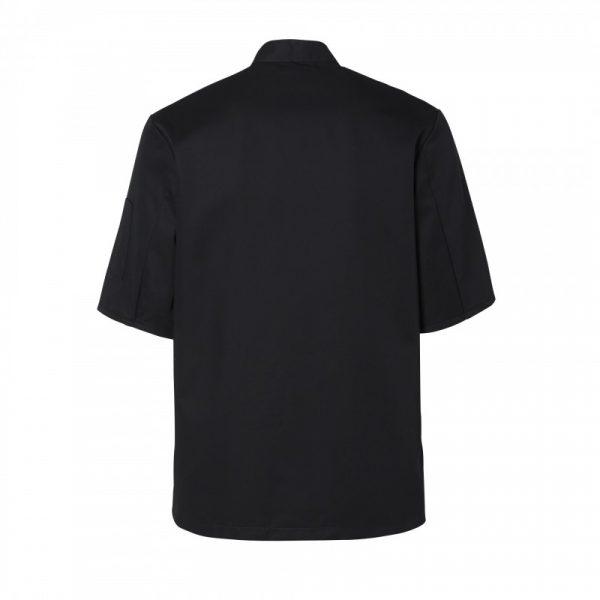 Veste de cuisinier Molinel Blake noir dos manches courtes