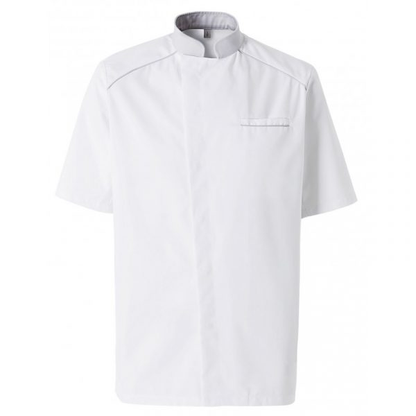 Veste de cuisinier Molinel Cookspirit blanc gris manches courtes