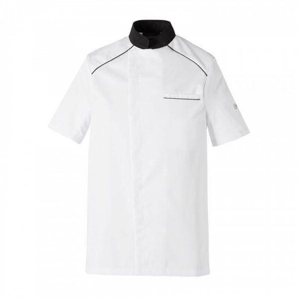Veste de cuisinier Molinel Cookspirit blanc noir manches courtes