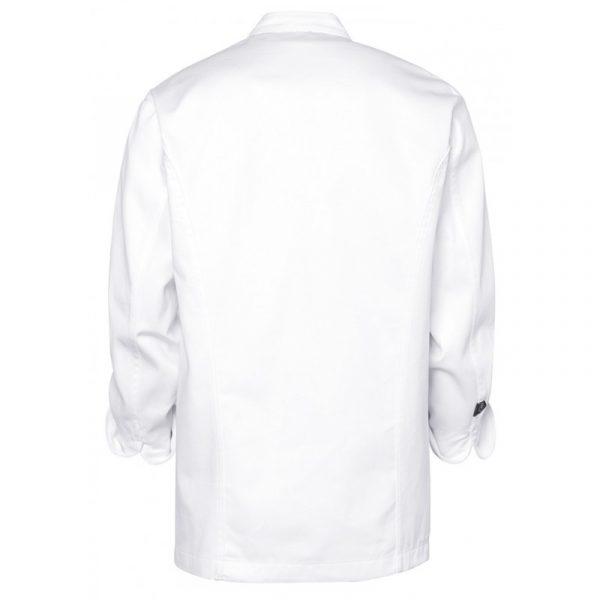 "Veste de cuisiner Molinel ""VDNS3"" avec pressions blanc dos"