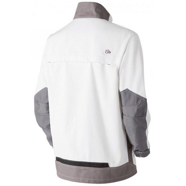 Veste de travail Molinel White & Pro blanc dos