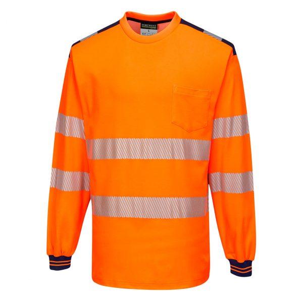 T-shirt Haute visibilité ML T185 PW3 orange et noir