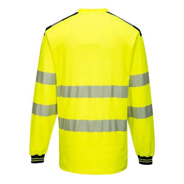 T-shirt Haute visibilité ML T185 PW3 jaune et bleu dos