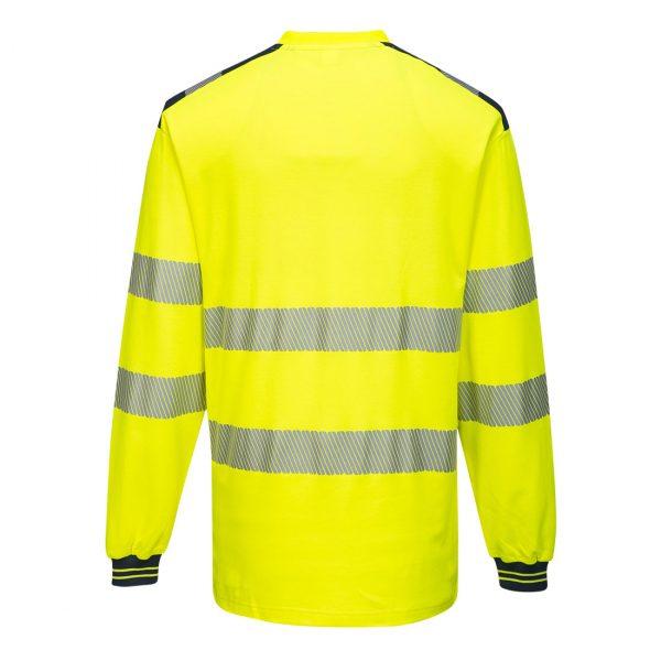 T-shirt Haute visibilité ML T185 PW3 jaune et noir