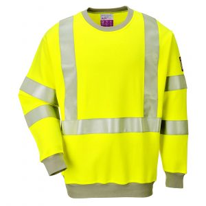 Sweatshirt FR antistatique Hi-Vis Jaune