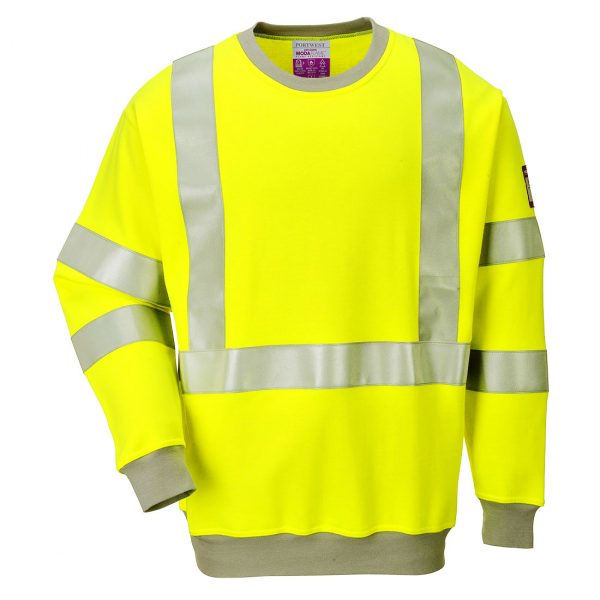 Sweatshirt FR antistatique Hi-Vis Jaune