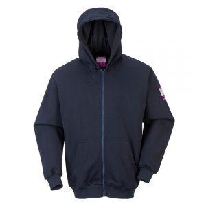 Sweatshirt FR zippe a capuche Marine