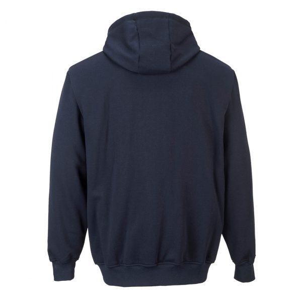 Sweatshirt FR zippe a capuche Marine dos