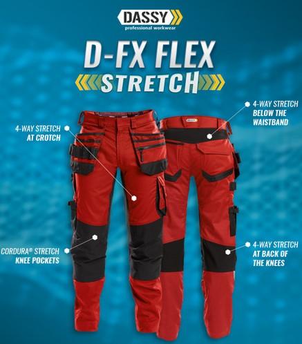 Pantalon FLUX rouge