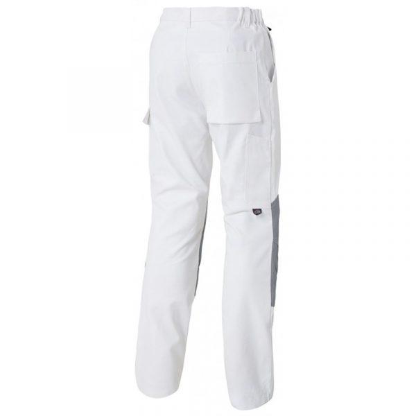 Pantalon Genouillères Basique blanc arrière