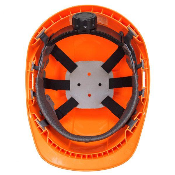 Casque Portwest Endurance plus orange vue intérieure